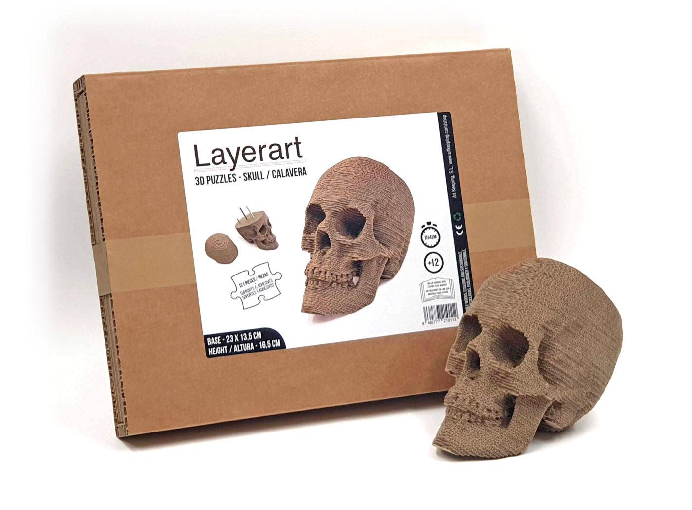 Calavera cartón 3D