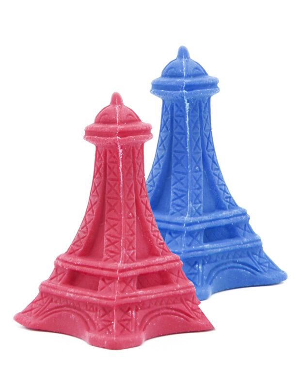 Torre Eiffel roja/azul
